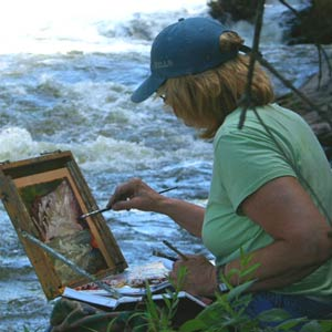 Painting on location