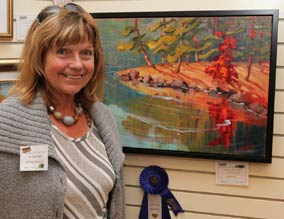 Kathy at ECOAA's juried show