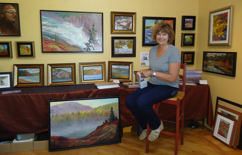 Kathy in her studio