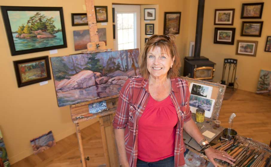 Kathy M Haycock in her Studio. Photo by Stephen Thorne.