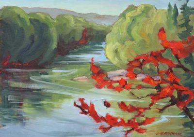 Madawaska River Maple   9 x 12   $400 unframed