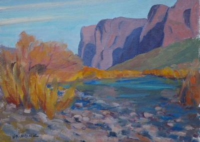Pebble Beach on the Salt River, AZ | 9 x 12 | $400 unframed