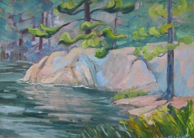 Thinking of Him at AY Jackson Lake | 9 x 12 | $400 unframed
