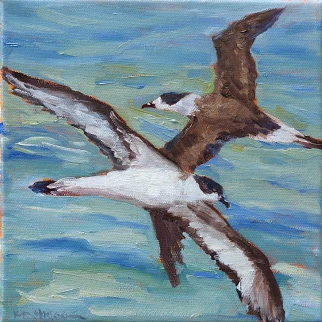 "Painting used for Mural: ""Black Capped Petrels"""