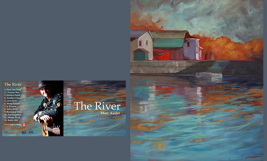 "Marc Audet, ""The River"" and Kathy Haycock, ""On the Dock"""