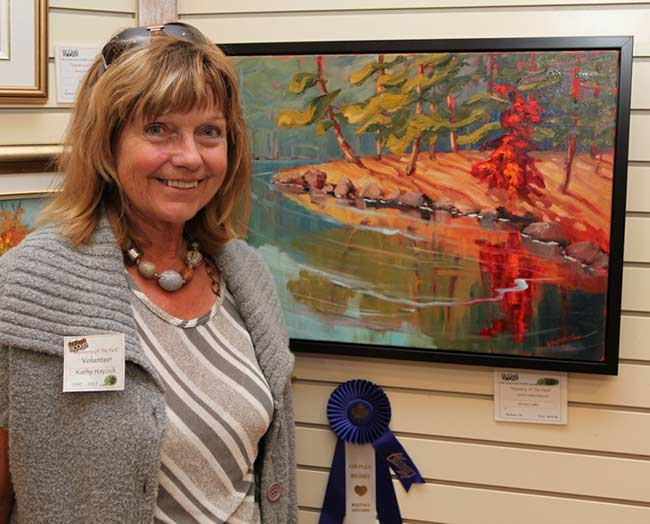Kathy at the East Central Art Association's Juried Show