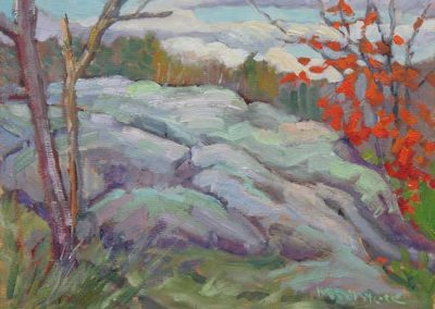 Outcrop with Maple   9 x 12   $400 unframed