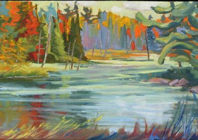 Pond Colours   12 x 24   sold
