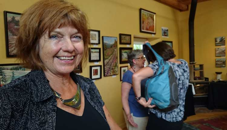 Kathy in her Studio during the Madawaska Valley Fall Studio Tour