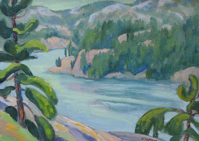 The LaCloche Mountains, Killarney Park   9 x 12   $450 framed