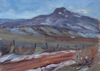 Cerro Pedernal, New Mexico   9 x 12   $400 unframed