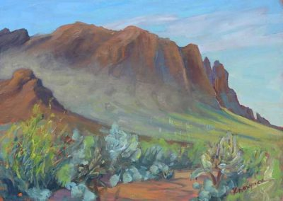 Morning Mist, First Water Trail, Superstition Mountains, AZ | 9 x 12 | $400 unframed