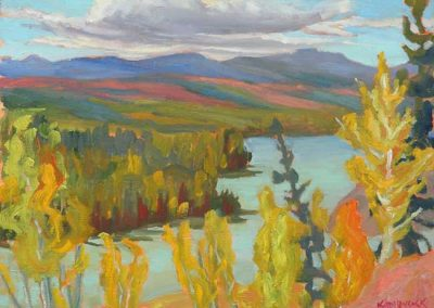 Stewart River Overlook, Yukon | 9 x 12 | $400 unframed