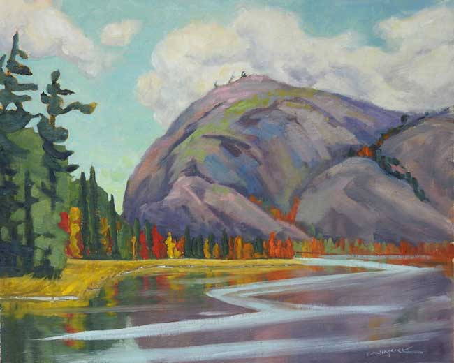 "Painting: ""Mountain Muse"" in the Ontario Society of Artists (OSA) Eastern Hub Exhibition"
