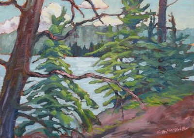 Onshore Breeze through the Trees | 9 x 12 | sold
