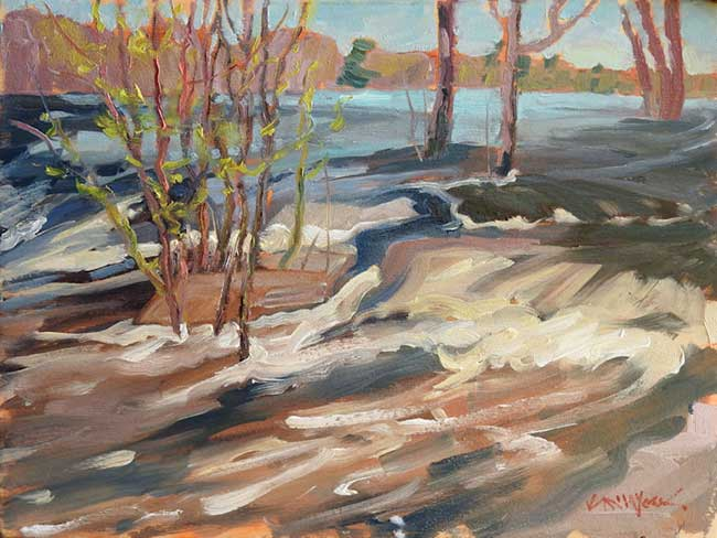 "Painting: ""High Water at the Fourth Chute"" in the Society of Canadian Artists (SCA) Elected Members Juried Exhibition"
