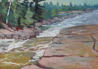 Wild on the Bonnechere River   9 x 12   $400 unframed