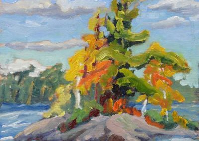 Temagami Rocks | 6 x 6  | sold