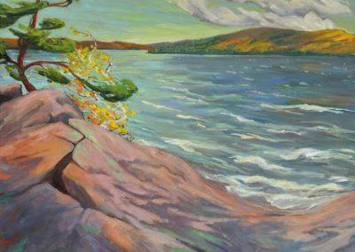 Stronger Together, Grand Lake   36 x 40   $2,000 unframed