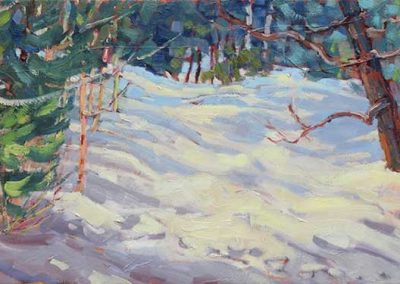 Winter Came Early   12 x 24   $550 framed